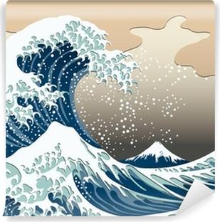 Fototapeta winylowa Katsushika Hokusai Trzydzieści sześć widoków na górę Fuji Wielka fala Off Kanagawa obrazu