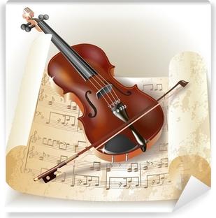 Vinylová Fototapeta Klasická housle v retro stylu