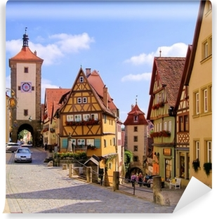 Vinylová Fototapeta Klasické pohled Rothenburg ob der Tauber, Německo