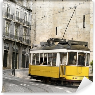 Vinylová Fototapeta Klasické žluté tramvaje v Lisabonu, Portugalsko