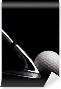 Fototapeta winylowa Klub golfowy z kulki na czarnym tle