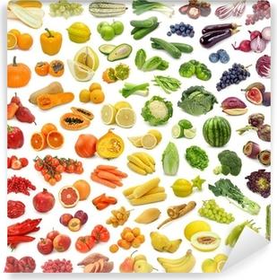 Fototapeta winylowa Kolekcja Rainbow z owoców i warzyw