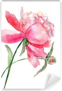 Vinylová Fototapeta Krásná pivoňka květina, akvarel