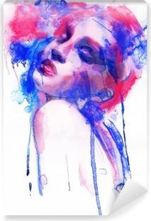 Vinylová Fototapeta Krásná žena. Ručně malované módní ilustrace