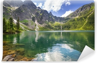 Vinylová Fototapeta Krásné scenérie Tater a jezero v Polsku