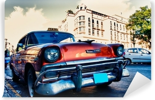 Vinylová Fototapeta Kubánské stará auta