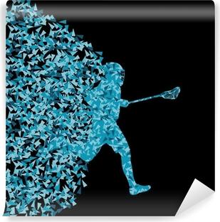 Vinylová Fototapeta Lacrosse hráči aktivní sportovní siluetu pozadí illustratio