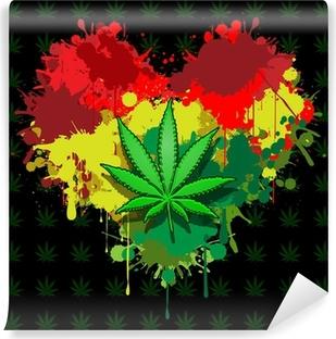 Vinylová Fototapeta Láska marihuana
