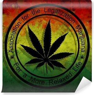 Vinylová Fototapeta Legalizace marihuany