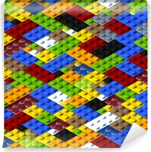 Vinylová Fototapeta Lego pozadí izometrické