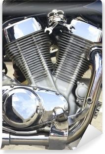 Vinylová Fototapeta Lesklý motocykl motor s výzdobou