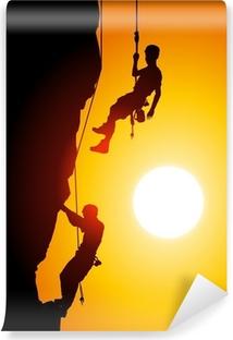 Fototapeta Lezení při západu slunce • Pixers® • Žijeme pro změnu 9f2357cb4f0