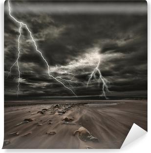 Vinylová Fototapeta Lightning bouřky na moři