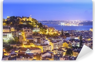 Vinylová Fototapeta Lisabon, Portugalsko Skyline a zámek