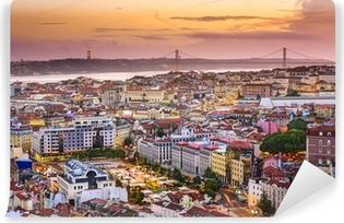 Vinylová Fototapeta Lisabon, Portugalsko Skyline za soumraku