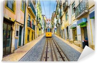 Vinylová Fototapeta Lisabon, Portugalsko Staré Město Panoráma a tramvajová