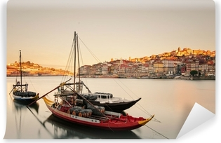 Vinylová Fototapeta Lodě v Porto