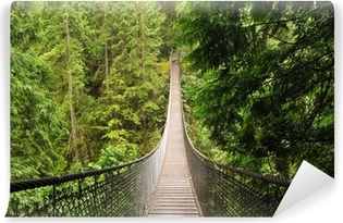 Fototapeta winylowa Lynn valley wiszący most