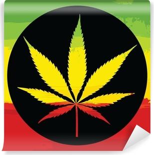 Vinylová Fototapeta Marihuana illustreation
