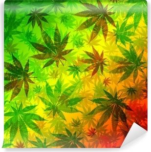 Vinylová Fototapeta Marihuana Konopí Listy vzor