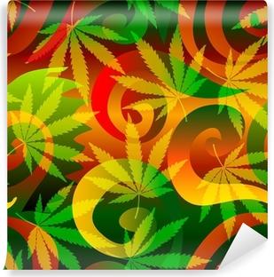 Vinylová Fototapeta Marihuana pozadí