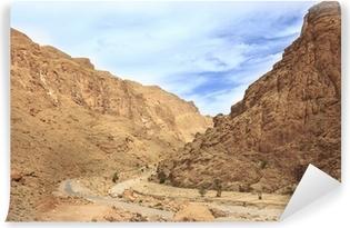 Vinylová fototapeta Maroko, cesta údolím řeky Todgha rokle