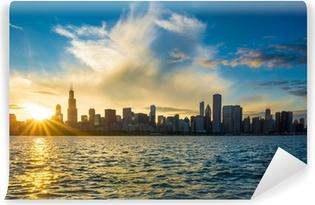 Vinylová Fototapeta Město chicago centra městské panorama