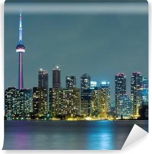 Vinylová Fototapeta Město v noci Toronto