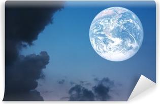 Vinylová Fototapeta Metafora koncept Krásná země a západu slunce na obloze background.Element zemského obrazu zařízen NASA.