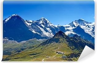 Fototapeta winylowa Mocowania Eiger, Moench i Jungfrau