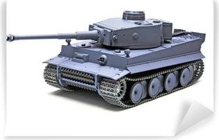 """Fototapeta winylowa Model w skali niemiecki czołg """"Tygrys"""""""