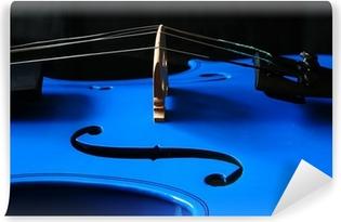 Vinylová Fototapeta Modrá housle