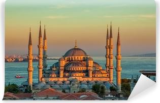 Vinylová Fototapeta Modrá mešita v Istanbulu v západu slunce