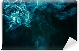Vinylová Fototapeta Modro-zelený kouř