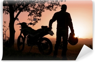 Vinylová Fototapeta Motocyklové dobrodružství