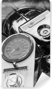 Vinylová Fototapeta Motorradamaturen, Schwarzweissfoto