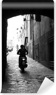 Vinylová Fototapeta Neapol - Vespa