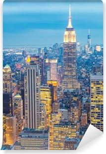 Vinylová Fototapeta New York City skyline za soumraku USA
