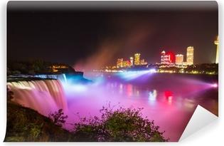 Vinylová Fototapeta Niagara Falls světelnou show v noci
