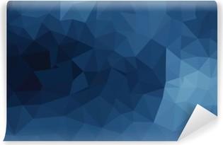 Fototapeta winylowa Niebieski geometryczny wzór, trójkąty tła