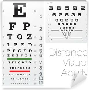 Fototapeta winylowa Odległość testu ostrości wzroku