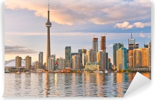 Vinylová Fototapeta Odraz Toronto panorama za soumraku v kanadském Ontariu.