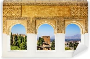 Vinylová Fototapeta Okna na Alhambra, Granada, Španělsko.