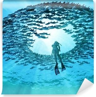 Vinylová Fototapeta Oko oceánu