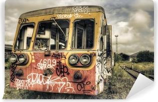 Vinylová Fototapeta Opuštěné označené railcar
