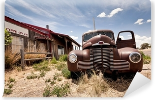 Vinylová Fototapeta Opuštěné restaraunt na trase 66 silnice v USA