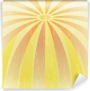 Vinylová Fototapeta Oranžová Žlutá ohýbané vlny na střed grunge vektor