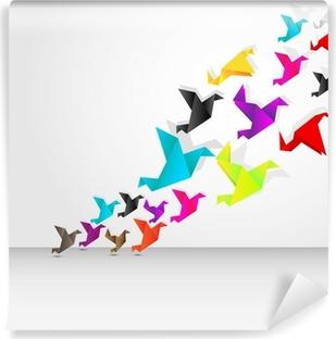 Fototapeta winylowa Origami flying