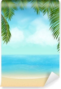 Fototapeta winylowa Palma tropikalna plaża
