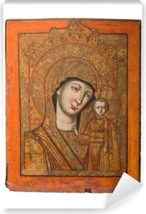 Fototapeta winylowa Pani Kazania rodzaju ikoną Matki Boskiej i Jezusa, 19th cent